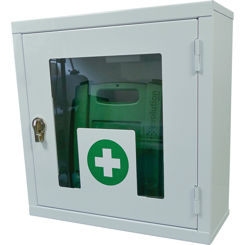 thumb lock first aid cabinet, empty from firstaid.co.uk
