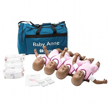 Laerdal Baby Anne Ethnic Skin, Four Pack