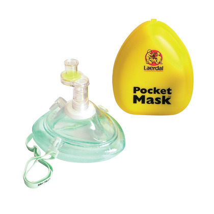 Laerdal Pocket Face Mask Complete with O2 Inlet, Hard Case