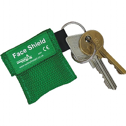 Resuscitation Faceshield in Key Ring Pouch
