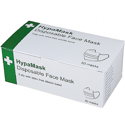 HypaMask 3Ply Disposable Type II Protective Face Masks (Box of 2000)