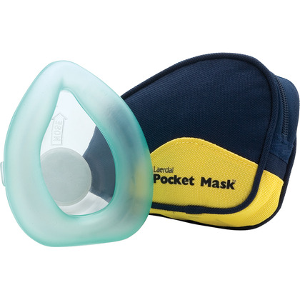 Laerdal Pocket Face Mask with One-Way Valve, Soft Case