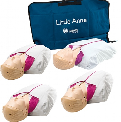 Laerdal Little Anne with Soft Pack Light Skin Multipack