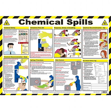 Chemical Spills Clean Up and First Aid Poster