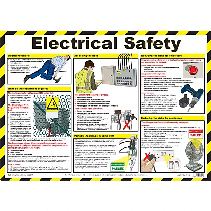 First Aid Electrical Safety Poster