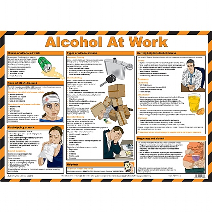 Alcohol at Work Guidance Poster