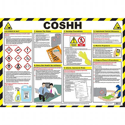 COSHH (Control of Substances Hazardous to Health) Guidance Poster