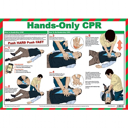 Hands-Only CPR Poster, Laminated