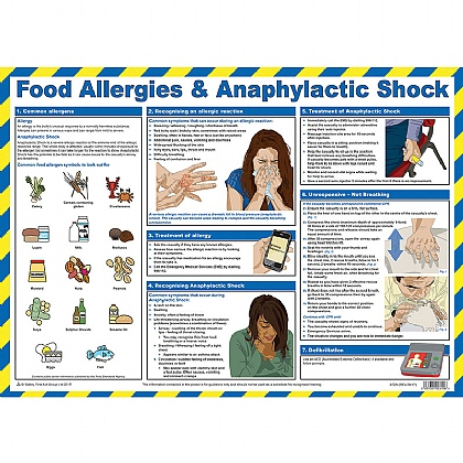 Food Allergies and Anaphylactic Shock First Aid Poster