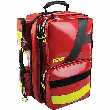 Emergency Backpack, X Large, PVC, Red