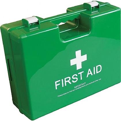 Empty Green Deluxe Shatterproof ABS First Aid Case, Large