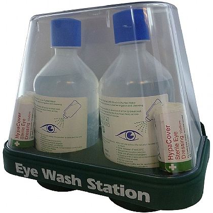 Dome Style Double Eye Wash Station Base (Empty)