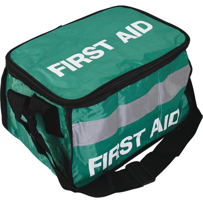 Empty Green First Aid Haversack