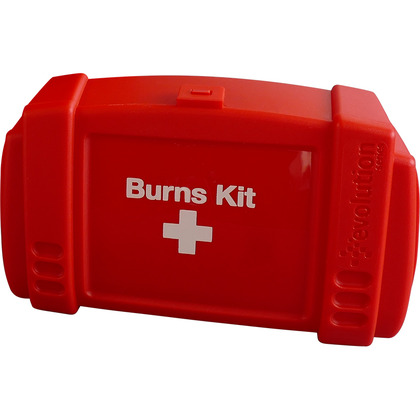 Empty Red Evolution Burns Kit Case, Small