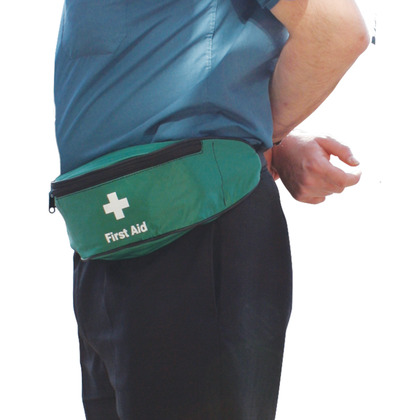 Green First Aid Bum Bag, Empty