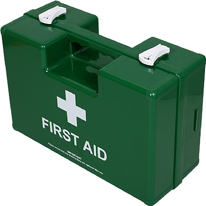 Empty Green Deluxe Shatterproof ABS First Aid Case, Small
