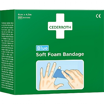 Cederroth Soft Foam Bandage, 4.5m Blue
