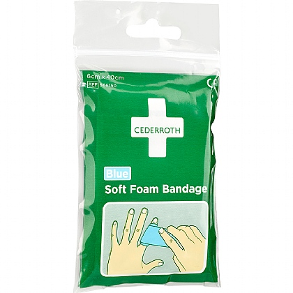 Cederroth Soft Bandage - Blue (Pocket Size) - 40cm x 6cm