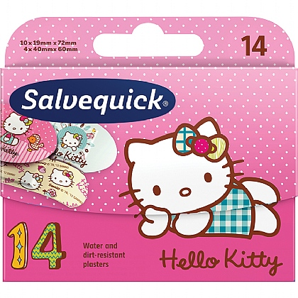 Salvequick Hello Kitty Assorted Water Resistant Children's Plasters