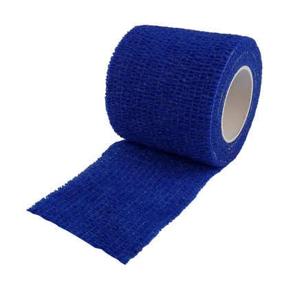 Non Woven Cohesive Bandage Blue 5cm x 4.5m (Medium Support)