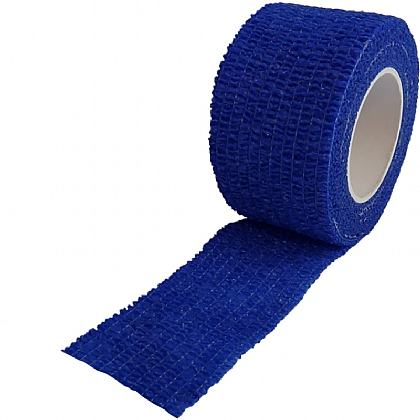 Non Woven Cohesive Bandage Blue 2.5cm x 4.5m (Medium Support)