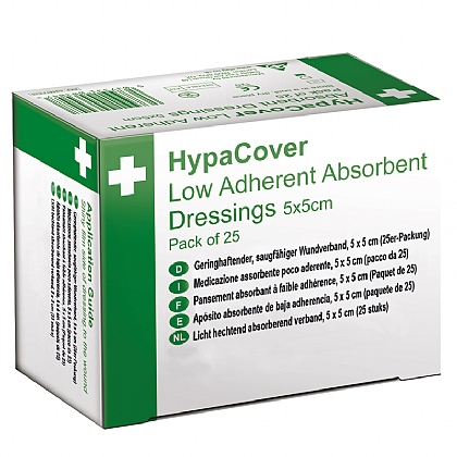 HypaCover Low Adherent Dressings - 5cm x 5cm, Pack of 100