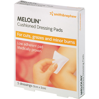 Melolin Low Adherent Dressings, 5x5cm (Pack of 5)