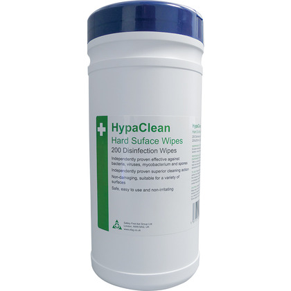 HypaClean Hard Surface Disinfection Wipes, Tub of 200