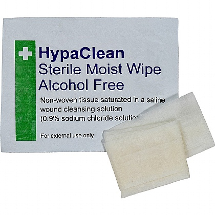 HypaClean Sterile Moist Wipes (Box of 100)
