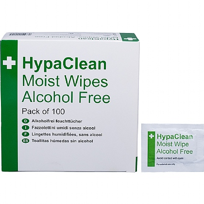 Alcohol Free Moist Wipes (Box of 100)