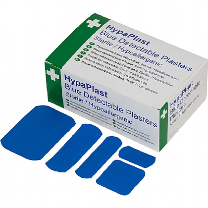HypaPlast Blue Detectable Plasters Assortment (Box of 100)
