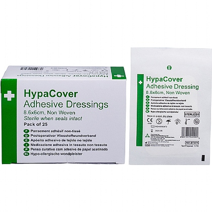 HypaCover Adhesive Dressing, Medium 8.6cm x 6cm (Pack of 25)