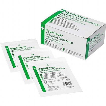 HypaCover Adhesive Dressing, Large 10cm x 8cm, Pack of 25