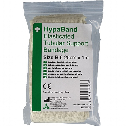 Elasticated Tubular Bandage White Size B 1m