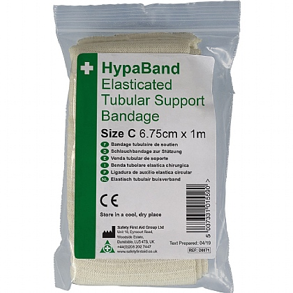 Elasticated Tubular Bandage White Size C 1m