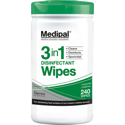 Medipal 3in1 Wipe Canister, 240 wipes