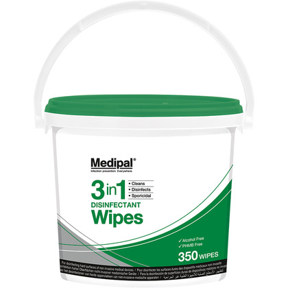 Medipal 3in1 Wipes Bucket, 350 wipes