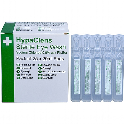HypaClens Sterile Eyewash Pods, Pack of 25