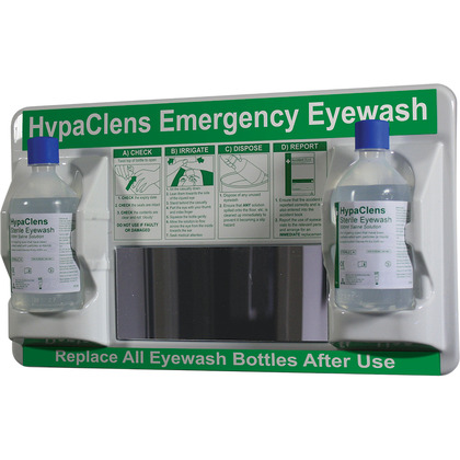 HypaClens Emergency Eyewash Station 2x500ml