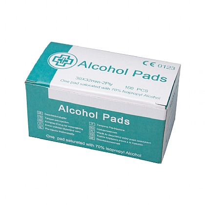 Pre-Injection Alcohol Pad Box of 100