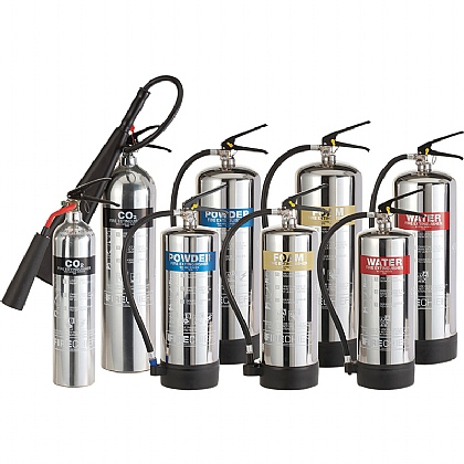 Stainless Steel Fire Extinguisher, CO2 2 Litre