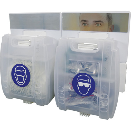 PPE Point - Eye Protection and Mask Dispenser