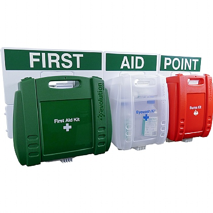 Evolution First Aid, Eye Wash & Burns Point Large