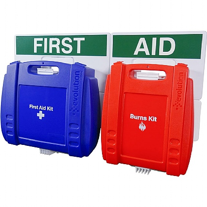 Evolution BS Compliant Catering First Aid Point, Blue Case, Large