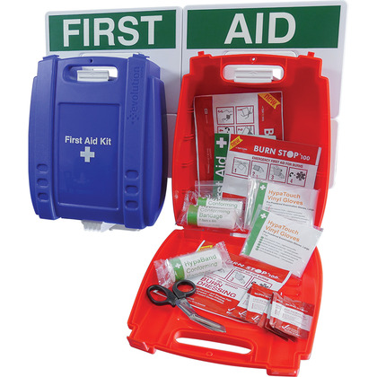 Evolution BS Compliant Catering First Aid Point, Blue Case, Medium