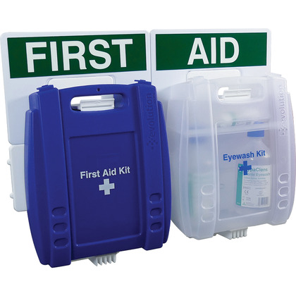 Evolution Eye Wash & Catering First Aid Point, Medium