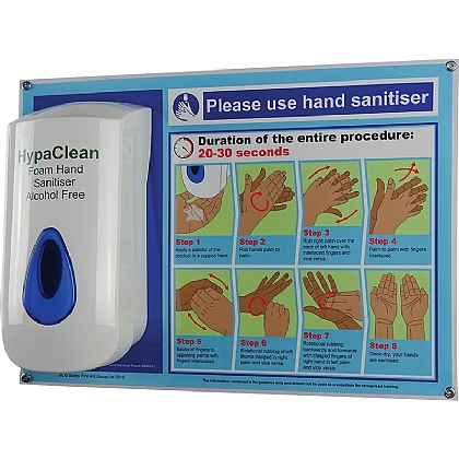HypaClean Alcohol-Free Hand Sanitiser Station
