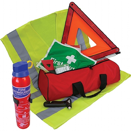 Standard Vehicle Safety Kit with Fire Extinguisher