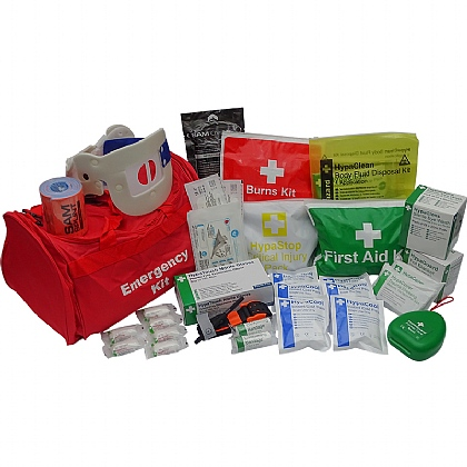 Trauma Kit in Red Emergency Bag - Professional