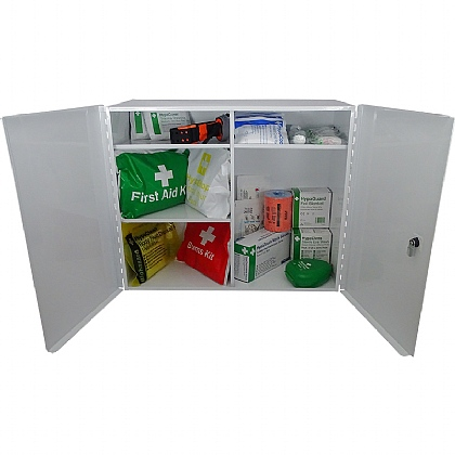 Trauma Kit in First Aid Cabinet